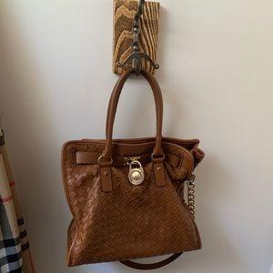 Micheal kors woven brown bag